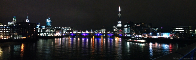 Millennium Bridge Night Panorama