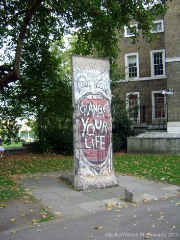 Berlin Wall Section - 'Change Your Life'