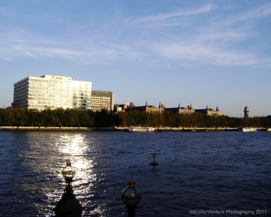 St Thomas' Hospital and The River Thames